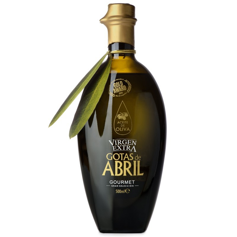 aceite de oliva virgen extra gourmet 500 ml. Gotas de Abril